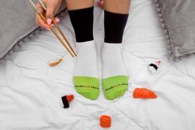 Sushi skarpetki w pudełku 5 par, bawełniane skarpety najwyższej jakości, prezent na gwiazdkę i urodziny