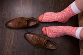 Salmon sushi socks box