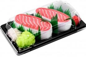 Sushi Socks Box Salmon, 1 Pair set, Rainbow Socks, product unisex