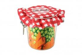 Jar socks Pea with Carrot and Lemon