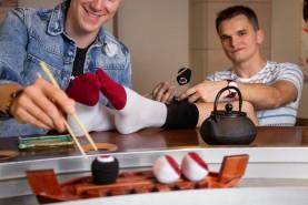 Skarpetki Sushi Socks Box - 2 pary - Łosoś, Ryba Maślana