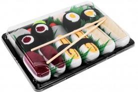 Sushi Skarpetki w Pudełku 5 Par: Tamago Ryba Maślana Tuńczyk Maki, kolorowe bawełniane skarpetki dla niej i dla niego