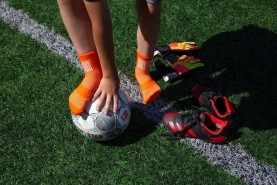 kids sport socks Playing football