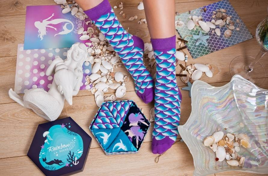 Colourful Mermaid Socks for Disney movie lovers