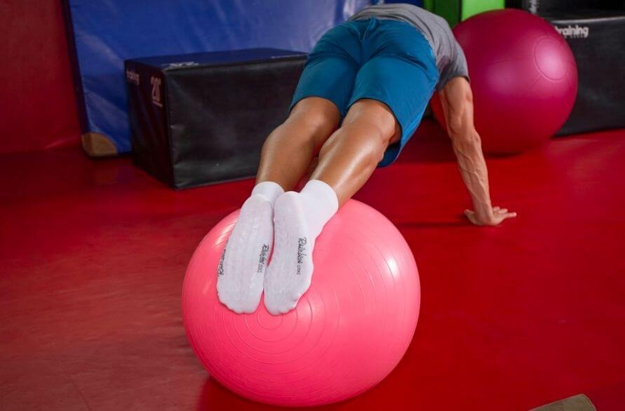 Rainbow Socks - Man working out in Rainbow Sport Socks