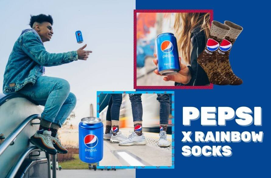 Pepsi x Rainbow Socks - how refreshing!